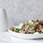 Quinoa Salad with Cherries and Goats Cheese
