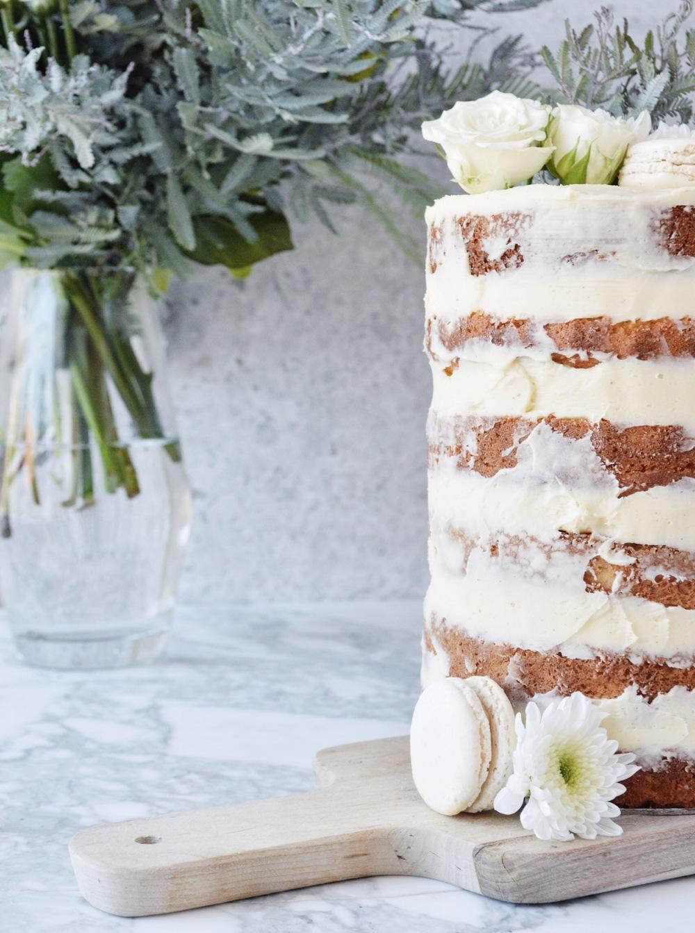 Orange yoghurt layer cake